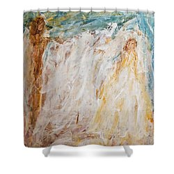 Angels Of Peace Shower Curtain