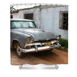 Antique Car Grey Cuba 11300501 Shower Curtain