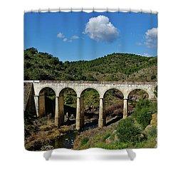 Antique Mertola's Bridge In Alentejo Shower Curtain