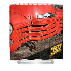 Antique Truck Red Cuba 11300502 Shower Curtain