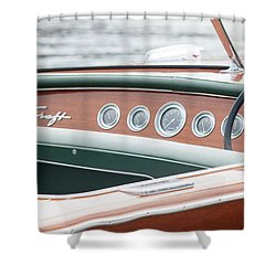 Antique Wooden Boat Dashboard 1306 Shower Curtain