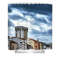 Shower Curtain featuring the photograph Apartment Buildings In Ourense by Eduardo Accorinti
