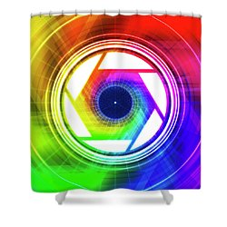 Aperature Shower Curtain