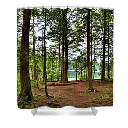 Shower Curtain featuring the photograph Approaching Sis Lake by David Patterson
