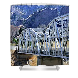 Arched Bridge And Hills Shower Curtain