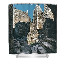Architecture Of Old Vathia Settlement Shower Curtain