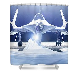 Area 71 A Nge Lien Shower Curtain