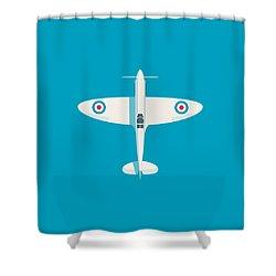 Supermarine Spitfire Wwii Raf Fighter Aircraft Shower Curtain