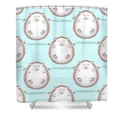 Zen Hedgehog Meditating Shower Curtain