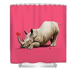 Horny Colour Shower Curtain
