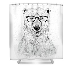 Geek Bear Shower Curtain