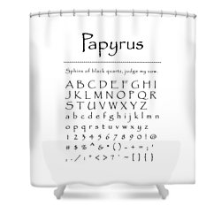 Papyrus - Most Wanted Shower Curtain