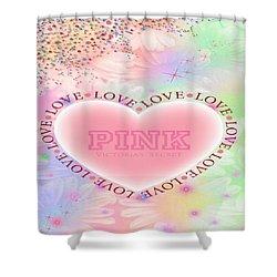 Victorias Secret Pink Shower Curtain