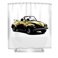 Vw Beetle 1972 Shower Curtain