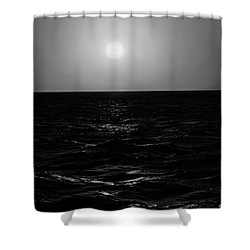 Aruba Sunset In Black And White Shower Curtain