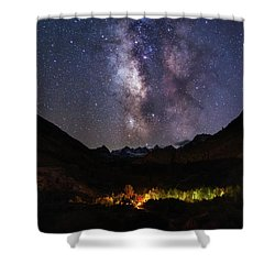 Shower Curtain featuring the photograph Aspen Nights by Tassanee Angiolillo