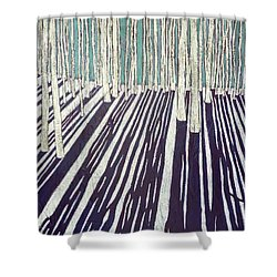 Aspen Shadow Silhouettes Shower Curtain