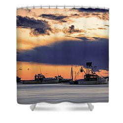 Shower Curtain featuring the photograph At Anchor At Lookout Point by Rick Berk