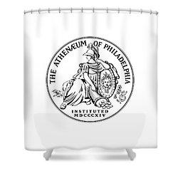 Athenaeum Of Philadelphia Logo Shower Curtain