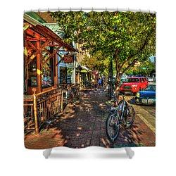 College Town Athens Georgia Downtown Uga Athens Georgia Art Shower Curtain