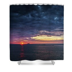 Shower Curtain featuring the photograph Atlantic Ocean Sunset by Pablo Avanzini