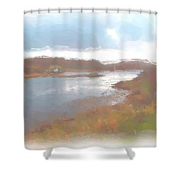 Atlantic View Shower Curtain