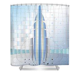 Atomic Rocket Shower Curtain
