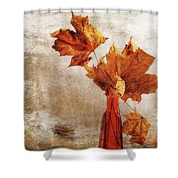 Shower Curtain featuring the photograph Atumn In A Vase by Randi Grace Nilsberg