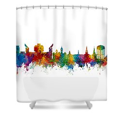 Auburn Alabama Skyline Shower Curtain