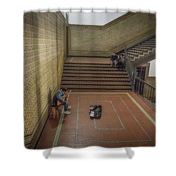 Shower Curtain featuring the photograph Audience by Alex Lapidus