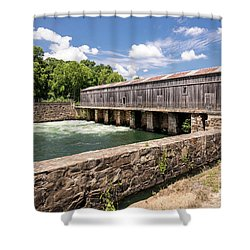 Augusta Canal Headgates - Augusta Ga Shower Curtain