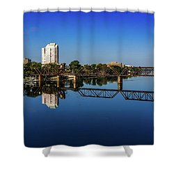 Augusta Ga Savannah River Panorama Shower Curtain