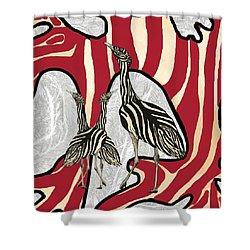 Australian Bustard Zebra 5 Shower Curtain