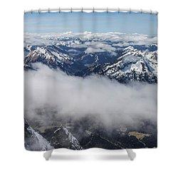 Austrian Alps Shower Curtain