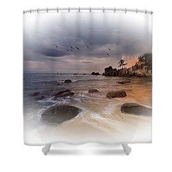 Authentic Alfresco Breakfast Shower Curtain