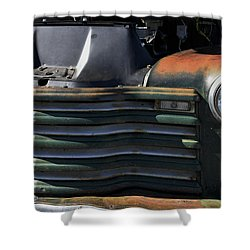 Auto With Rust Patina Shower Curtain