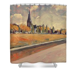 Autumn Along The Griend Shower Curtain