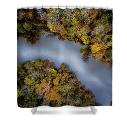 Autumn Arrives At The River Shower Curtain