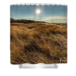 Autumn At The Beach Cape Cod Shower Curtain