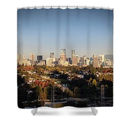 Autumn At The City Shower Curtain