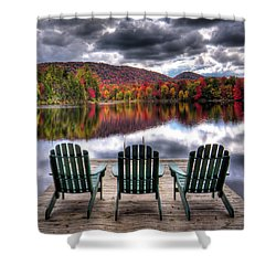 Shower Curtain featuring the photograph Autumn At The Lake by David Patterson