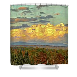 Autumn Clouds Over Maine Shower Curtain