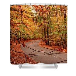 Autumn In Holmdel Park Shower Curtain