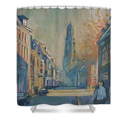 Autumn In The Lange Nieuwstraat Utrecht Shower Curtain