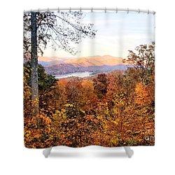 Shower Curtain featuring the photograph Autumn Magic by Rachel Hannah