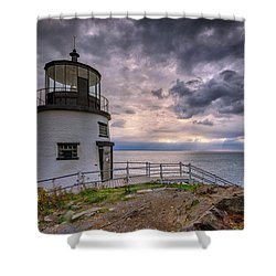 Shower Curtain featuring the photograph Autumn Morning At Owls Head by Rick Berk