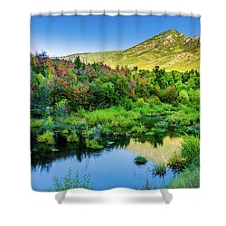 Shower Curtain featuring the photograph Autumn On The Little Deer Creek by TL Mair