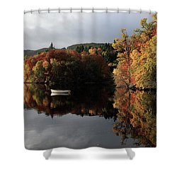 Shower Curtain featuring the photograph Autumn Reflections by Grant Glendinning