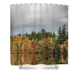 Shower Curtain featuring the photograph Autumn Tree Reflections by Grant Glendinning