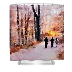Autumn Walkers Shower Curtain